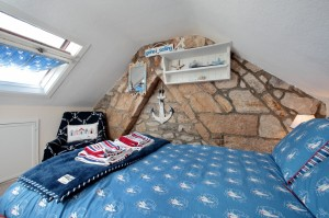 Attic Bedroom (can lie on bed and hear sea from here!)